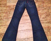 Flare wide leg jeans pants denim Levis' 26/32