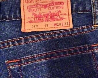Flare jeans pants Levi's 26/32 wide leg