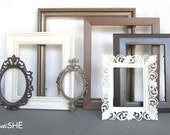 Espresso Bronze Chestnut Heirloom white Frame Set Custom Picture Frames Open or Frames w/ GLASS Set Browns Modern Picture Frames
