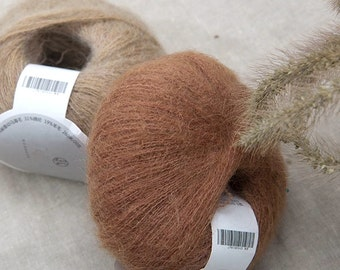 6 colors of Mohair Yarns / 50% Mohair Yarns / Lace Weight