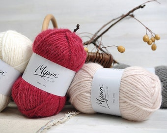 Acrylic Yarn Available in 6 Different Colors / Knitting or Crochet Yarn / 4 Strands Acrylic Yarn / Worsted Weight Acrylic Yarn