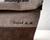 Add Custom embroidery name to your accesory, up to 12 characters. Personalized toiletry bags and clutchs.