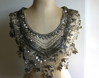1930 Vintage Sequined Collar