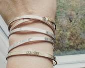 Personalized Cuff Bracelet - Custom Cuff Bracelet - Happiness & Inspirational Cuff Bracelet - Bangle/ Personalized Gift/ Stacking Cuff