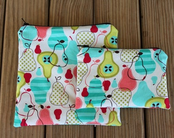 Reusable Sandwich Bag and Snack Bag Combo, Fruit - Zipper Sandwich Bag
