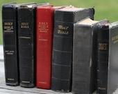 Antique Vintage Bible Book Bundle Stack Home Decor Prop