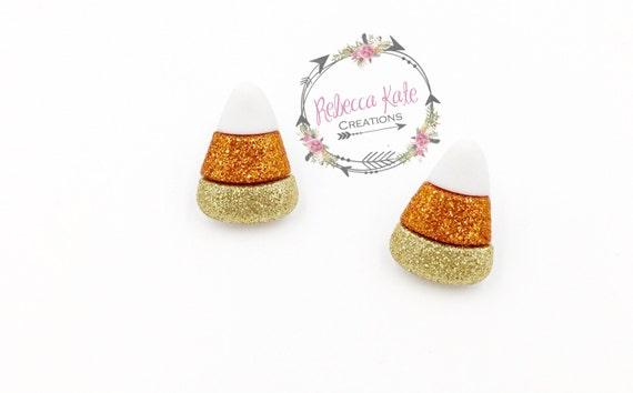 Yum Yum Candy Corn Earrings/Halloween Earrings/Nickel Free