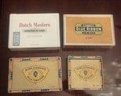 Vintage Cigar Box Collection, Dutch Masters, Blue Ribbon, King Edward c. 1950 - 1970