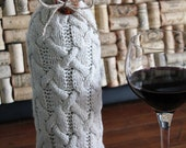 Upcycled Sweater Wine Bottle Bag