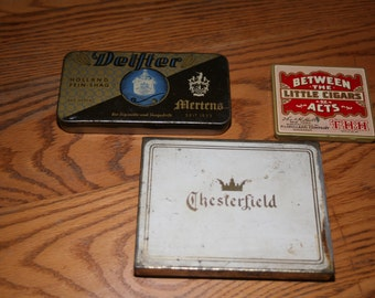 Tobacco tins, Vintage Tobacco, Chesterfield, Cigar Tins, Delfter, Old Tins, Wallet, Cigarette Holder, Between Acts