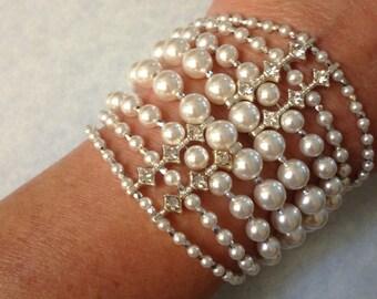 Custom Order Lady Naomi Swarovski Pearl Bracelet