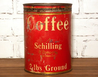 Vintage Schilling Coffee Can 2 lb
