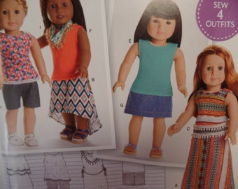 Simplicity 0170--18 Inch Doll Clothing Pattern --New Uncut-