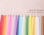Origami Lucky Star Paper Strips Rainbow Multicolor DIY - Pack of 120 Strips Custom Order Available