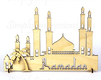 Ramadan Eid Mosque Decoration #2 Wood Sculpture Muslim Islamic Art