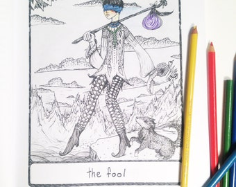 The Efflorescent Tarot Coloring Book An Adult With Original Artwork Of