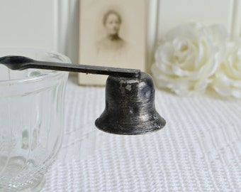 Rustic shabby candle shuffer, vintage Swedish light utensil, please view all details