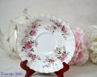 Royal Albert Lavender Rose Replacement Saucer Only, English Bone China Saucer,  ca. 1961-2009