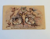 Victorian Trade Card The Wendell Spectacles and Eye Glasses Antique Advertising Card Cerubs and Glasses Scranton Iowa Jeweler