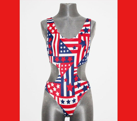 Items Similar To American Flag Swimsuit Retro Bathing Suit