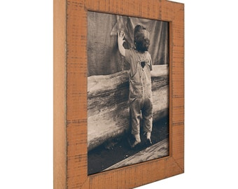 Orange Picture Frame with Rustic Appearance; Hardwood; Lancashire style (1500091117)