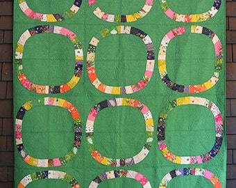 Sleeping Porch - Single Girl Quilt Kit in Green - Cotton Lawn - Heather Ross for Windham Fabrics - SP-KITGR - 1 kit