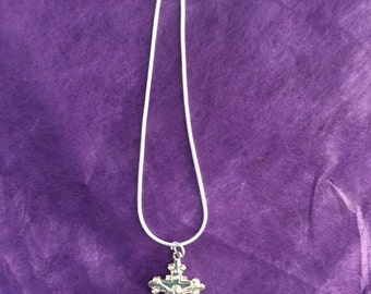 Vintage silver Crucifix with silver chain - in gift box - Sale