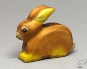 Toy Bunny Rabbit wooden brown colourful sitting Easter Bunny Size: 6,5 x 5,5 x 2,0 cm (bxhxs)  approx. 25,5 gr.