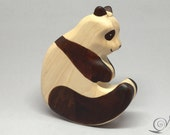 Toy Panda wooden black white colourful Size: 14,5 x 8,0 x 2,5 cm (bxhxs)  approx. 79,5 gr.