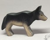 Toy Wolf wooden grey colourful mother Size: 10,5x 7,0 x 3,0 cm (bxhxs) approx. 63,5 gr.