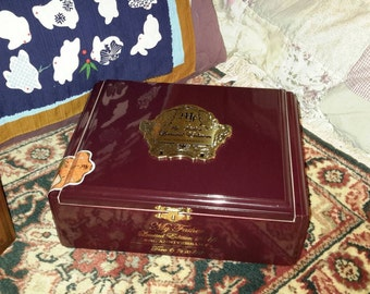 Humidor My Father's Cigars Anniversary Cigar Chest Metal Plate Collectors Edition by IndustrialPlanet
