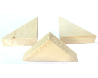 10 Wood Triangle Pieces