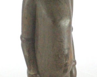 Vintage Wooden Figurine From Africa - Hand Crafted