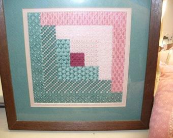 12 Needlepoint Framed