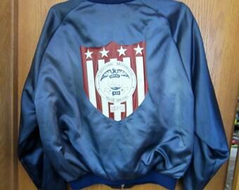 Police Jacket - International Brotherhood of Police Officers - Mens Lightweight Jacket size L Large Mens Outerwear