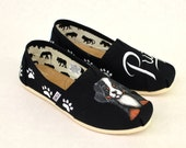 Custom Hand Painted Puppy Dog Shoes - Customizable Get Your Dog Painted On Your Shoes, Perfect For Ever Dog Lover