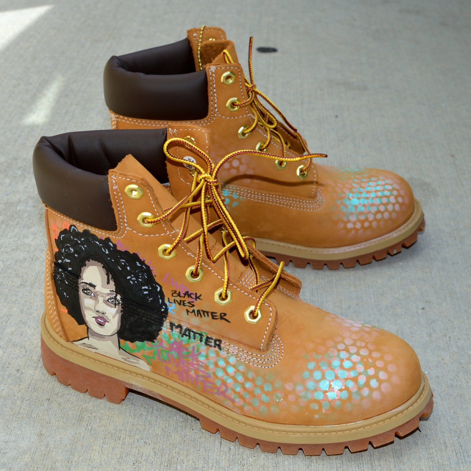 Black Lives Matters Custom Hand Painted Timberland Boots