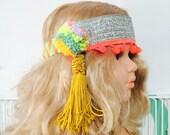 POM 2 Years Plus Festival Kids Girls Womens Headband Headpiece Pom Poms Unisex