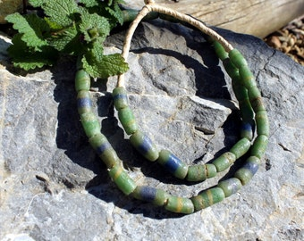 Vintage African Trade Beads, Pressed Glass, Sand Cast, Beads Traveling the Globe, T.29.
