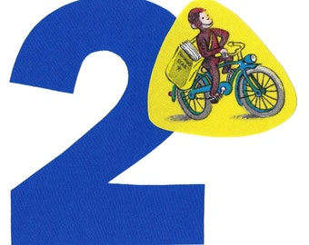 DIY Curious George applique and pick any number iron on applique