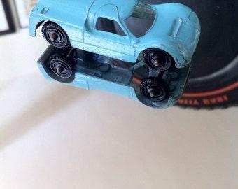 1968 TootsieToy Ford G.T Powder Blue Miniature Metal Body Auto