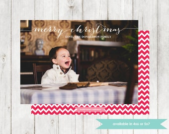 Photo Christmas Card | Printable Digital File | DIY Holiday Card