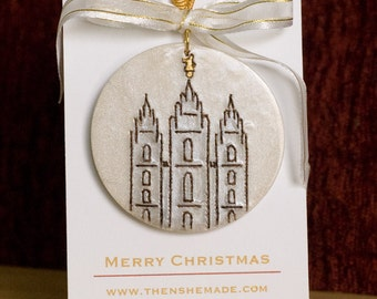 Personalized LDS Temple Christmas Ornament