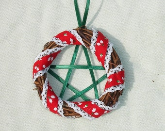 Mini Pentagram Wreath Yule Ornament