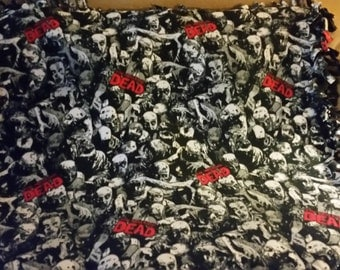 The Walking Dead Fleece Tie Blanket