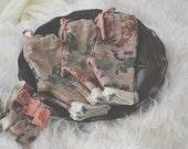newborn floral pants & tieback set-newborn photography prop