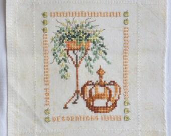 Finished / Completed Cross Stitch - Lanarte -Mini garden scenes  ( 34458/34459/34460/34461) crossstitch counted cross stitch
