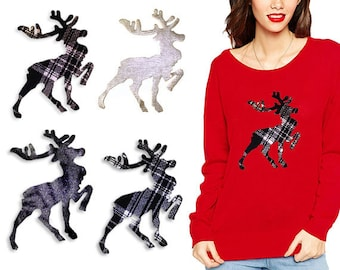 Christmas Deer Hot Fix Appliques Designs - for Fashion Crafts and Home Decor