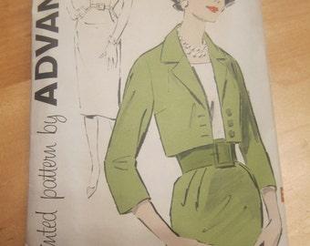 Advance 9295 Vintage Womens Sheath Dress Jacket Vintage Sewing Pattern Size 16