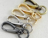 10Pcs 12mm Inner Size Brass Gold Silver Gunblack Swivel Lobster Clasps - For Craft Bag Purse T243
